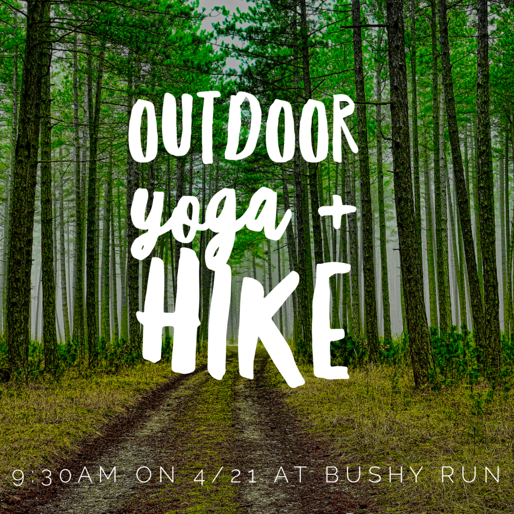 Outdoor Yoga and HIke at Bushy Run Park