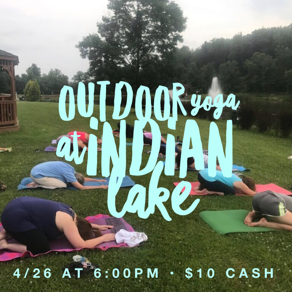Outdoor Yoga at Indian Lake