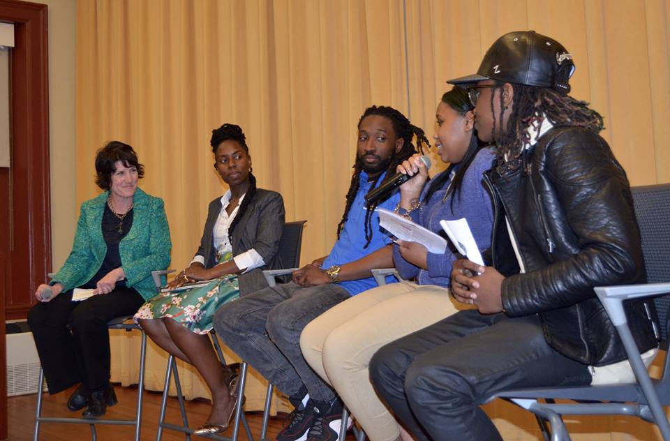 Ballou author M.H. Jordan speaks at We Can Be the Change: Writing Solutions to Violence