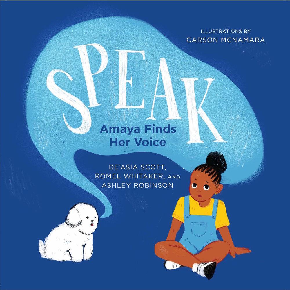 speak amaya finds her voice shout mouse press