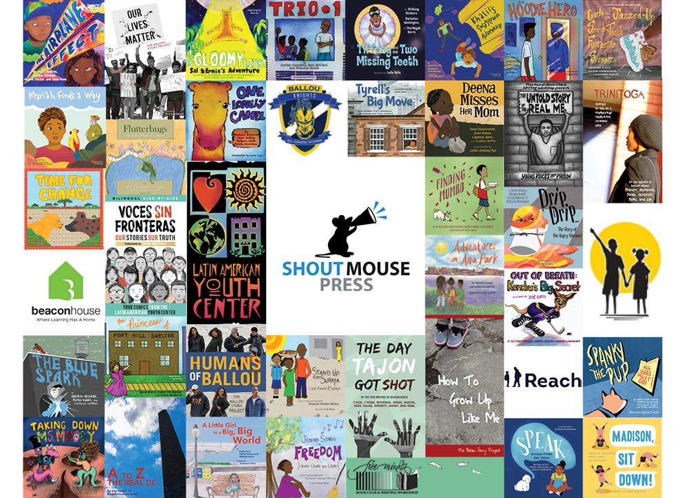 781f04bdcb4d6 Set of All (34) Shout Mouse Press Books — Shout Mouse Press