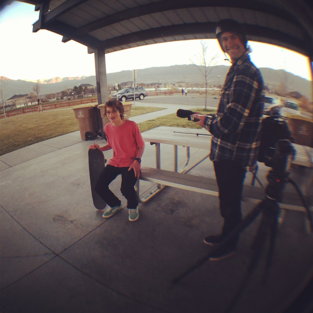 Interviewing James, one of the skaters that comes to SkateChurch SLC.