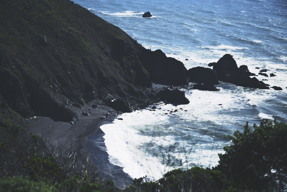 This was the first black sand beach I've ever seen. This was just after rolling into Oregon.