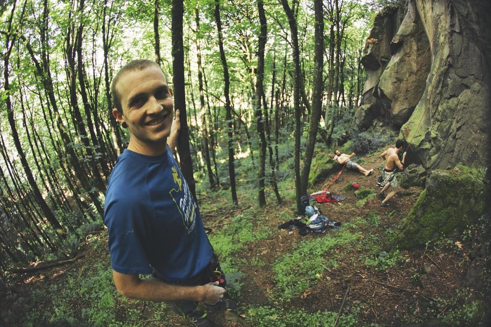 Dan Bookless loves to climb.