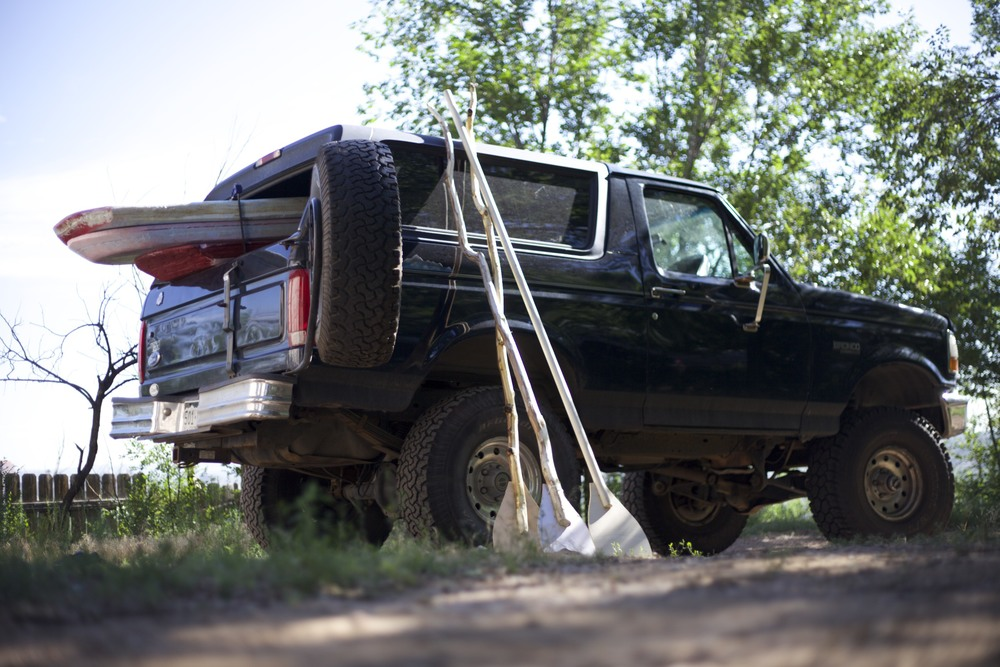 Loading up Tim's Bronco for the 4 hour drive through beautiful Colorado.