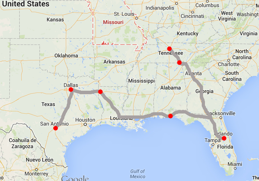 Tentative plan for the next couple of months before heading back to Texas for the Holidays.