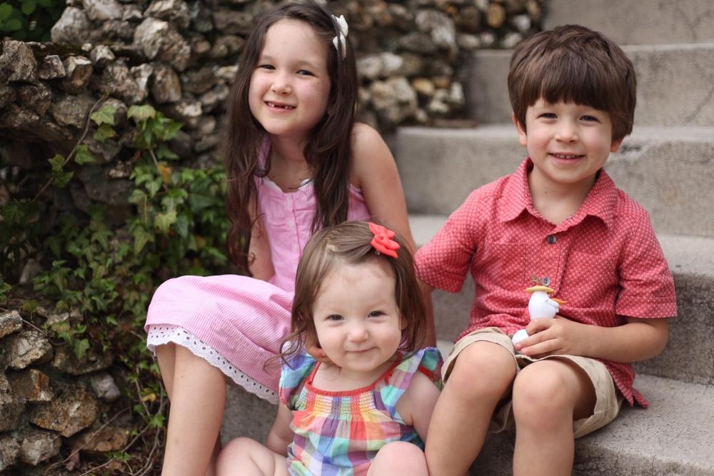 Bella, Sophia and Joey Lucarelli. The sweetest kiddos ever.