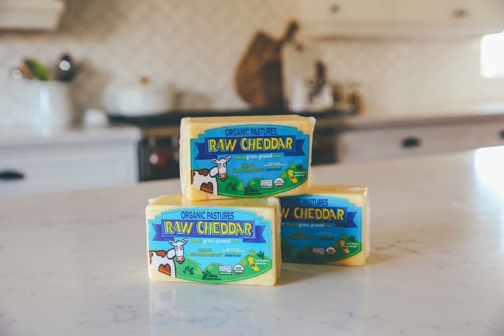 Raw 1 lb Cheese- ORGANIC PASTURES