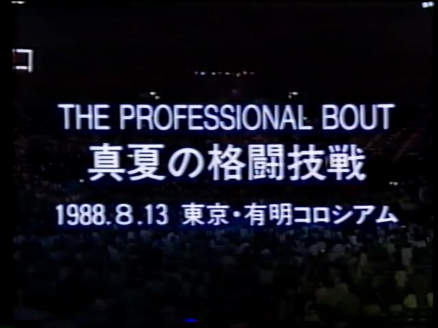 The Professional Bout 8/13/88