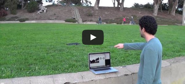 Dan Liebeskind controls a drone by waving his hand. Full video in the post.