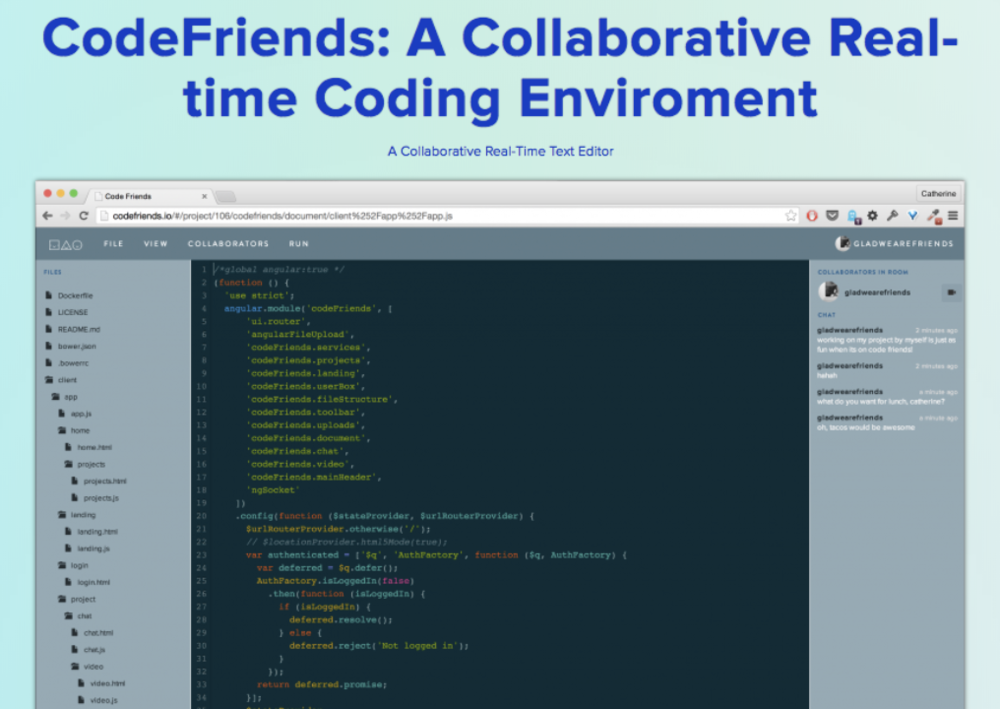 Jorge's thesis project, Code Friends