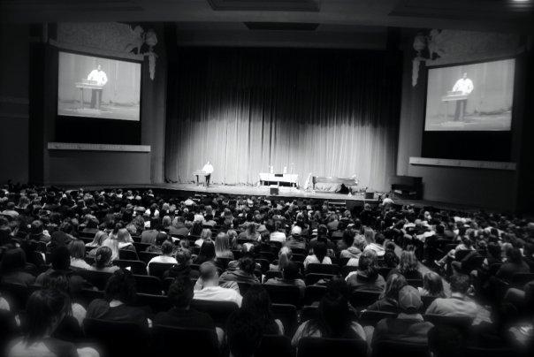 Boniface speaks to Baylor Chapel Spring 2009