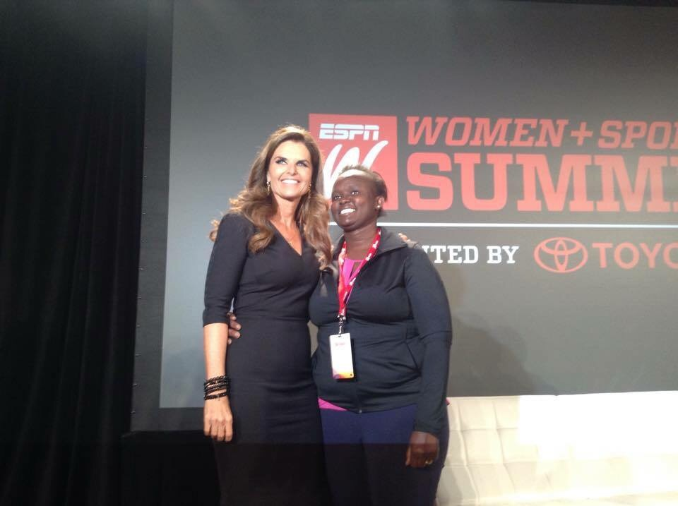 Speaker Maria Shriver and Maqulate Akorot