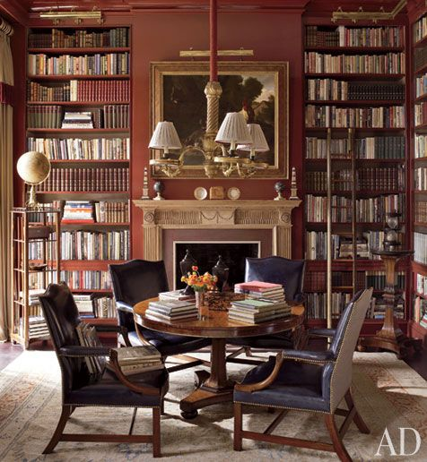 Victorian Library Room: Old World Libraries