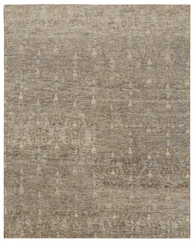 "Tibetan, hand-knotted rug in ""Seabreeze"" colorway"
