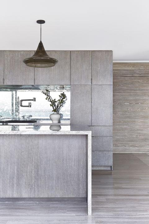 Light Grey Wood Kitchen by Jamie Bush & Co.