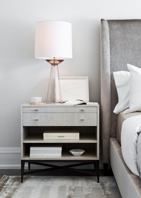 Smoky White Bedside Table by Elizabeth Metcalfe Interiors & Design