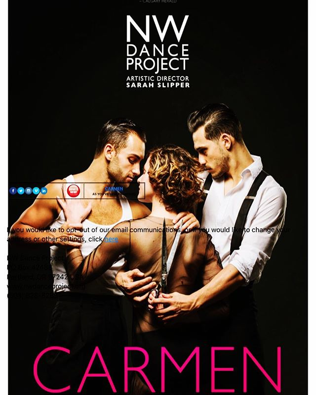 I love dance. And I get to design the costumes for this amazing collaboration. #carmen #nwdance #art #fashion @nwdanceproject