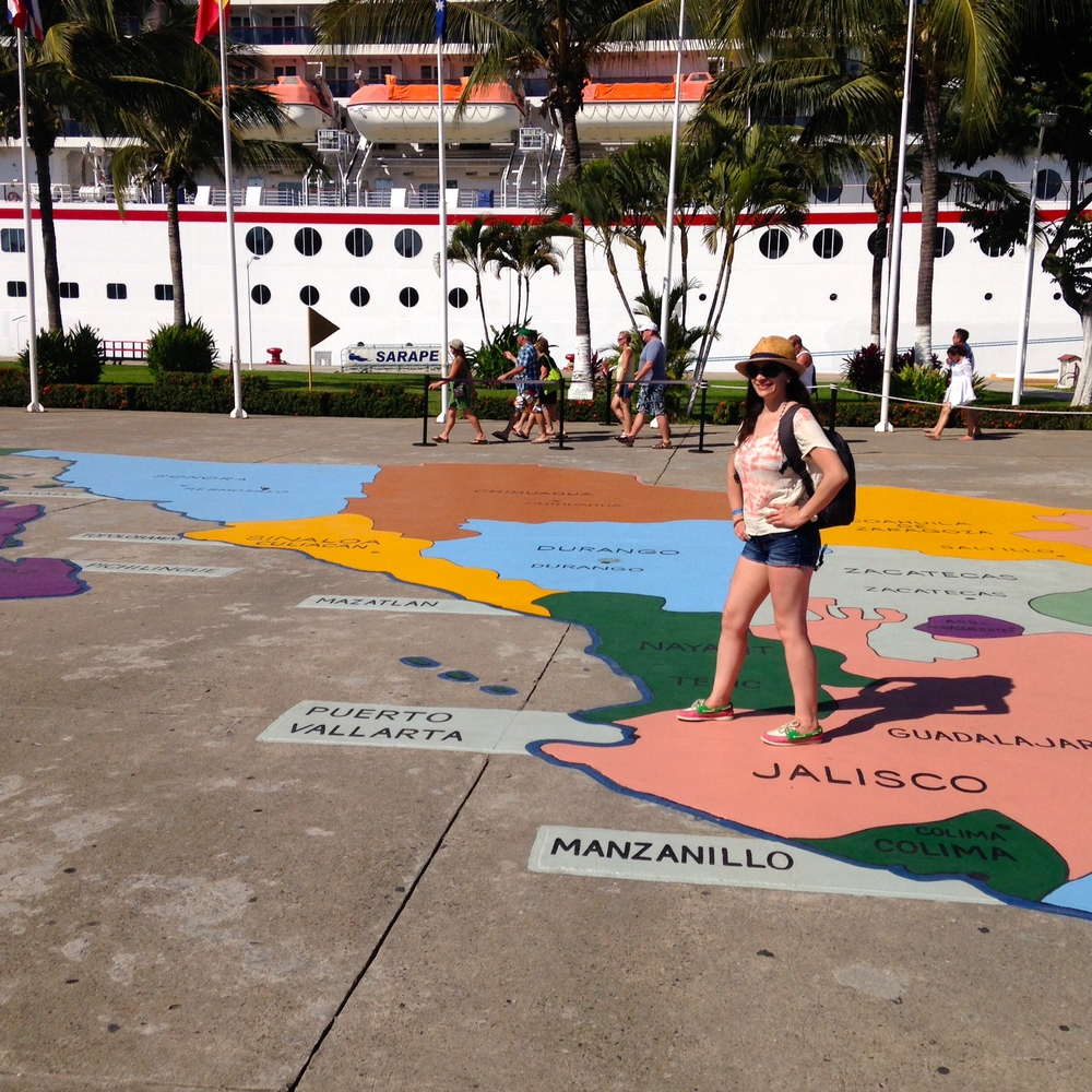 Colorful map inside the Puerto Vallarta marina.