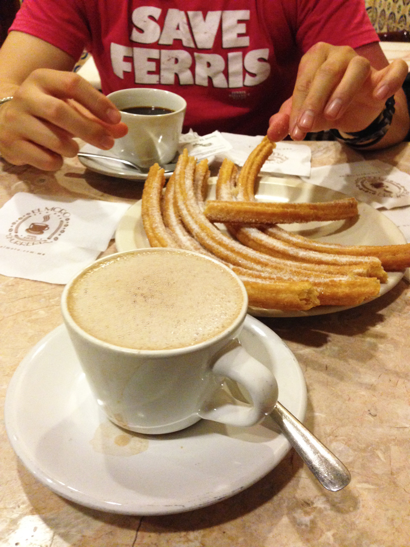 Churros and Hot Chocolate from El Moro