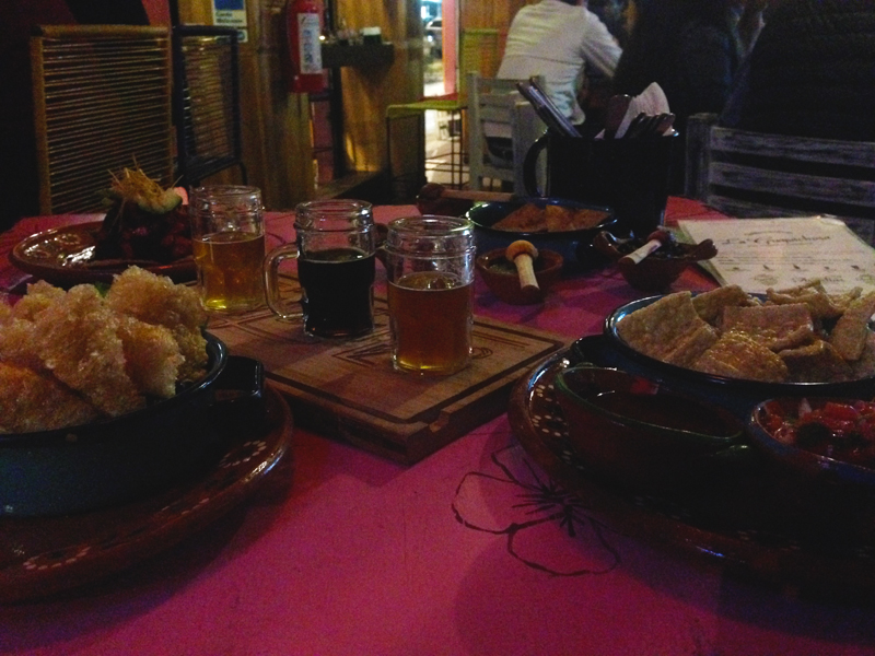 Beer tasting and appetizers