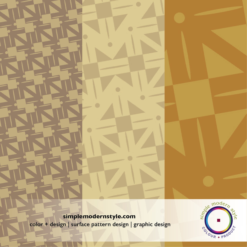 Clean graphic surface design pattern in harvest colors.  Colors and pattern design by Simple Modern Style.