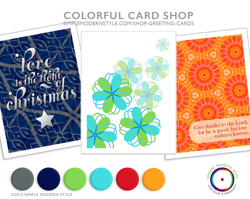 Colorful greeting cards are perfect for gifting or sending! Each is an original surface pattern design, photo or fine art piece from the Simple Modern Style design studio. Check back often for new offerings!