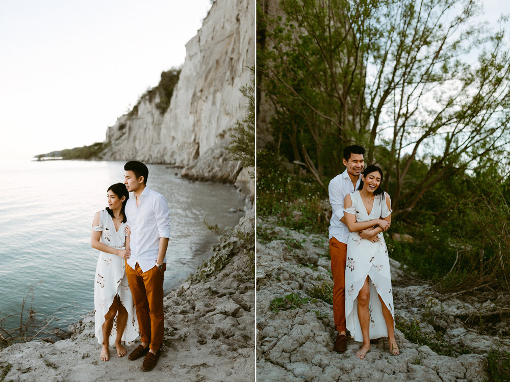 Scarborough Bluffs Toronto Engagement collage.jpg