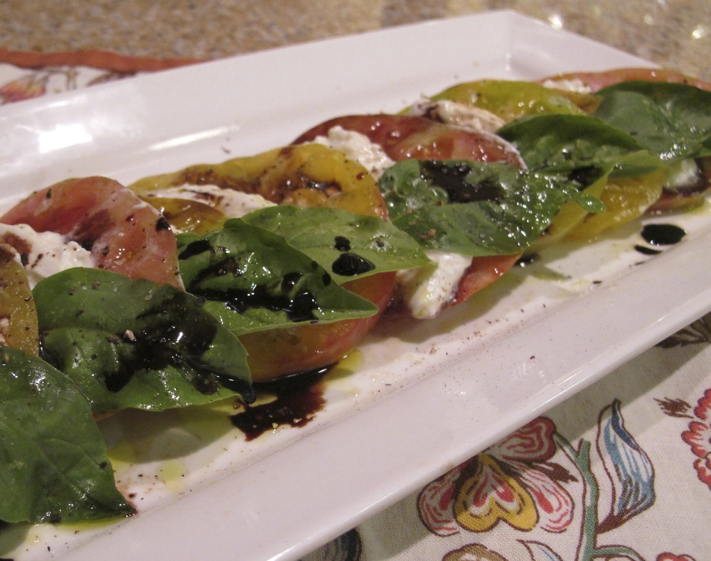 Heirloom Tomato Caprese with Burata Cheese