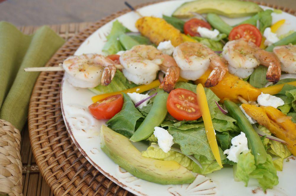 Rum-Glazed Shrimp and Mango Salad