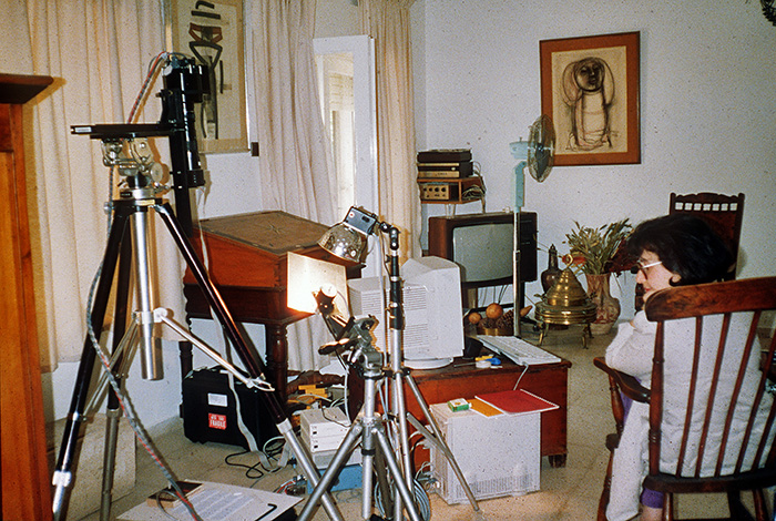 Imaging the Dead Sea Scrolls in our Jerusalem Apartment, July 1994