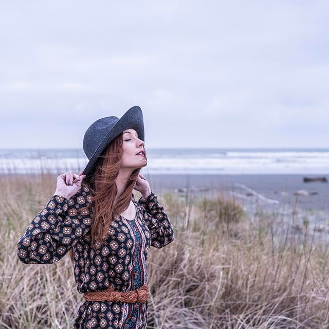 Quick day trip to the coast with @mackenzieclang ... ... ... #model #photoshoot #style #pnw #pnwonderland #oceanshoreswa #washington #boho #bohochic #gypsy #wind #ocean