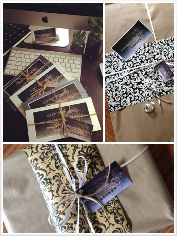 gift vouchers and gift wrapping