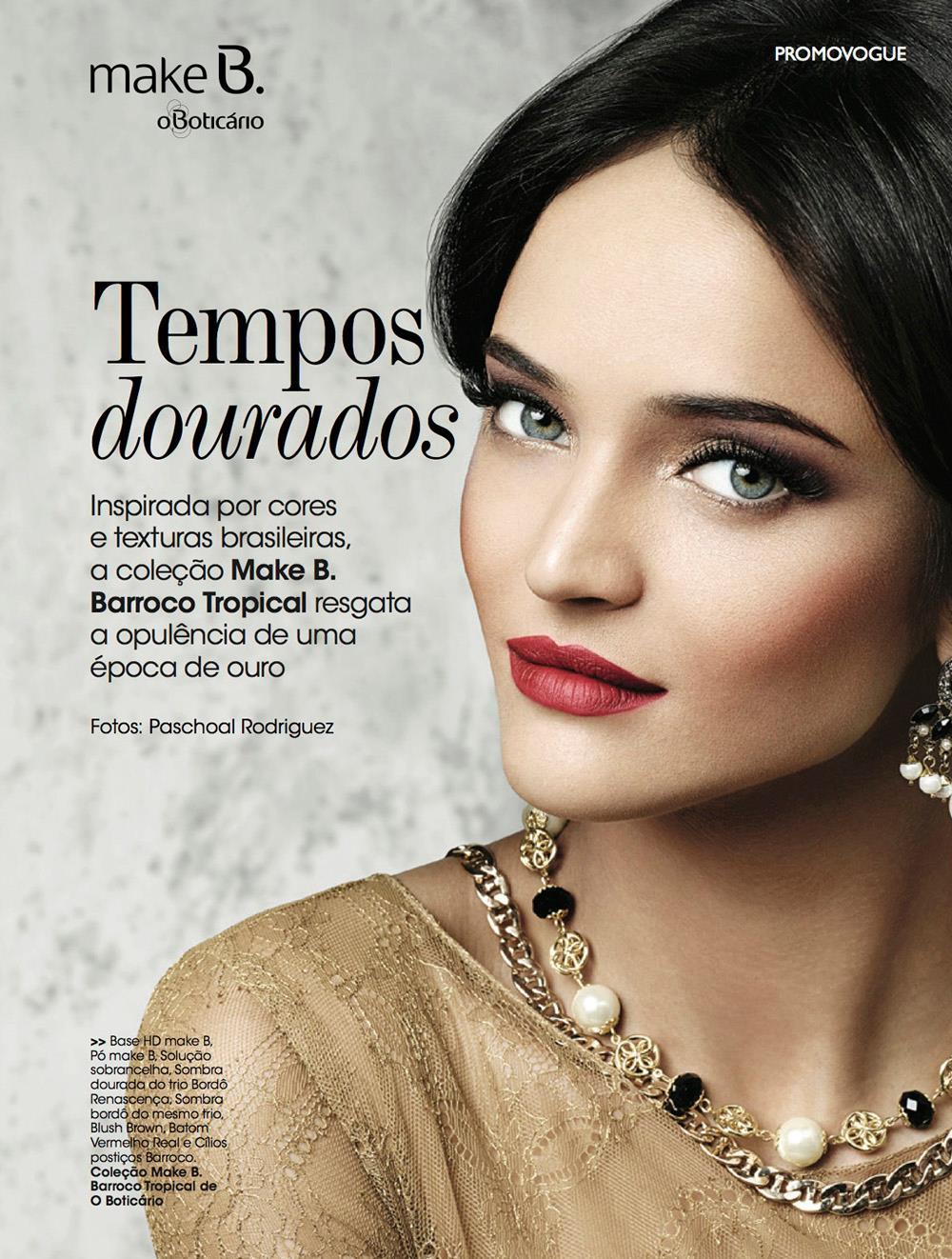 Maquiagem batom vermelho Vogue Brasil Suelen Johann