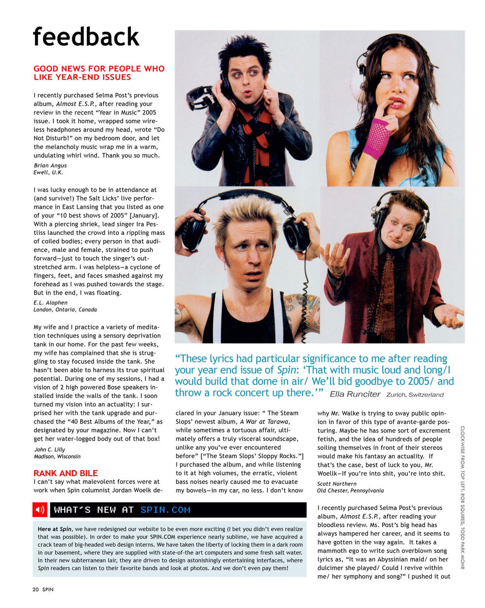 "Aaron Steffes, Feedback (Spin Magazine) , 2006, ink jet print, 9"" x 12"""
