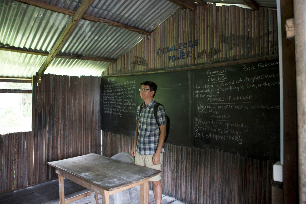 Trying to imagine teaching in a classroom on stilts. The structure was pretty sound and there was good cross ventilation. I kinda miss the old chalk boards.