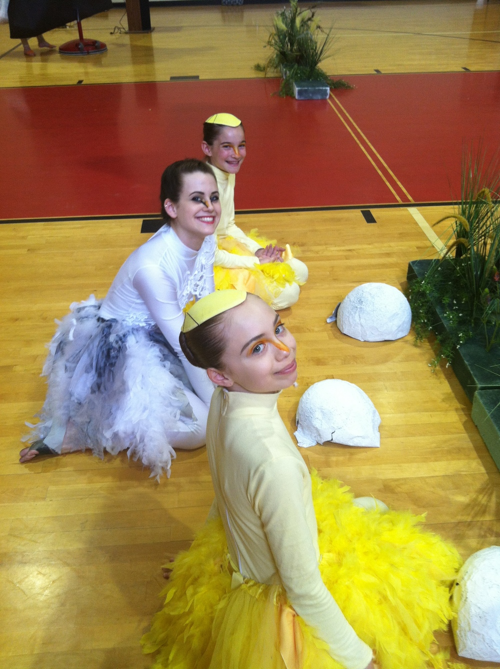 Pennsylvania Regional Ballet dancers waiting to begin an Ugly Duckling performance