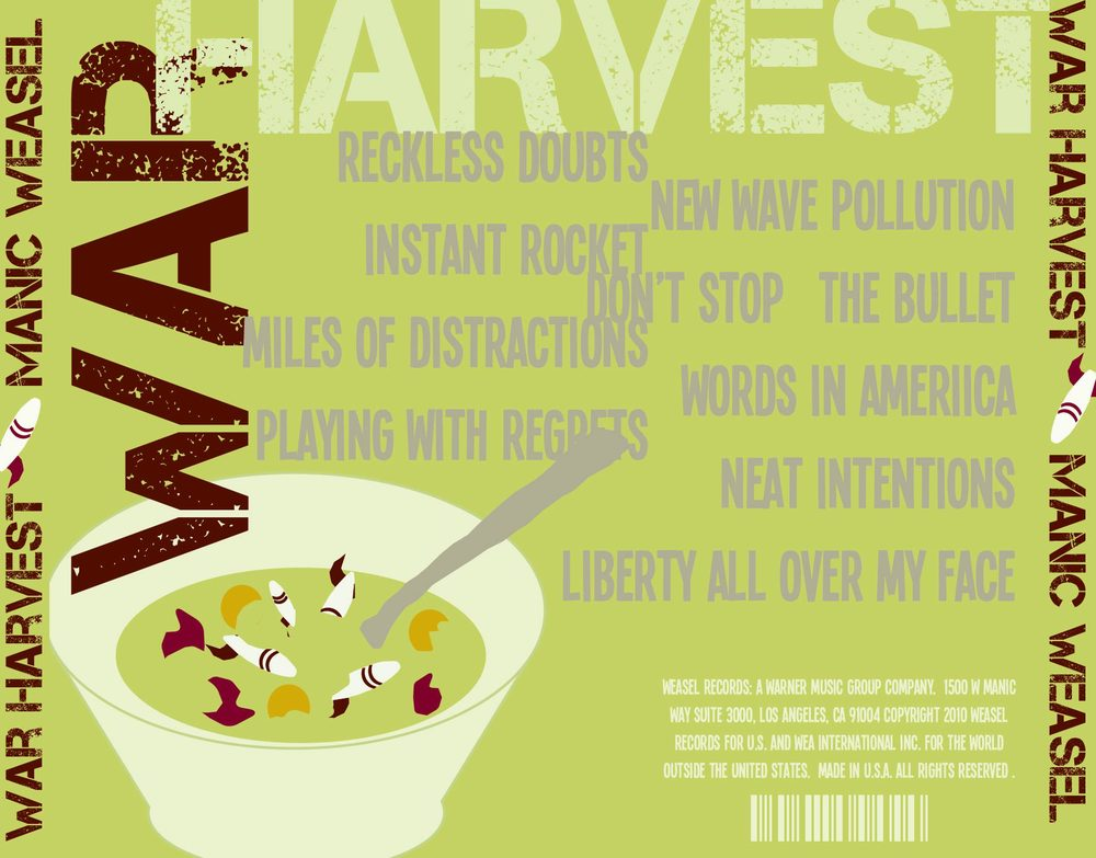 CD cover - song list