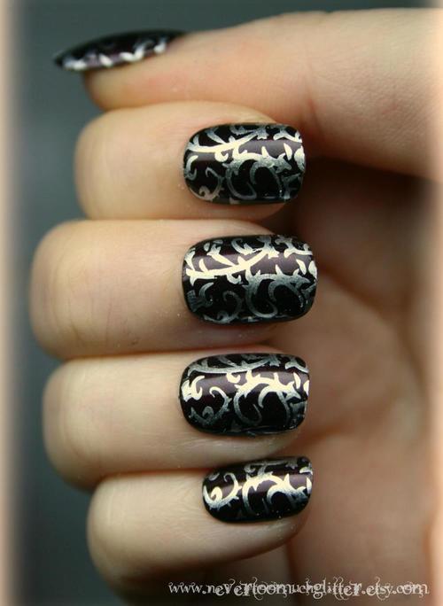Easy Gothic Nail Art Nailarts Ideas