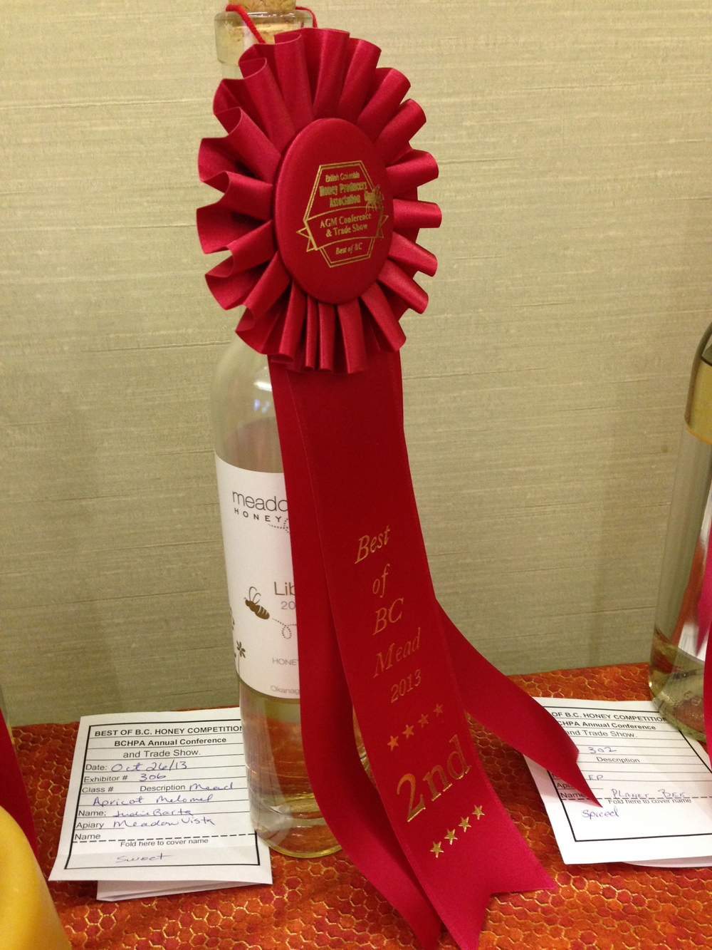 Libra wins 2nd place at BC Beekeeper's Assoc. AGM!