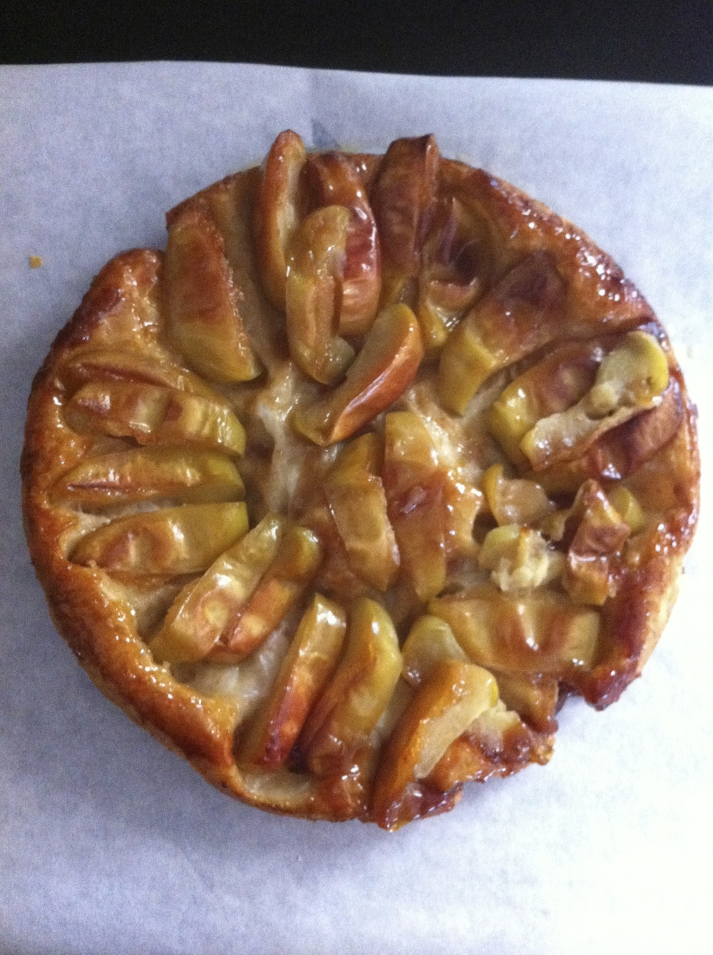 Apples and Honey Tarte Tatin