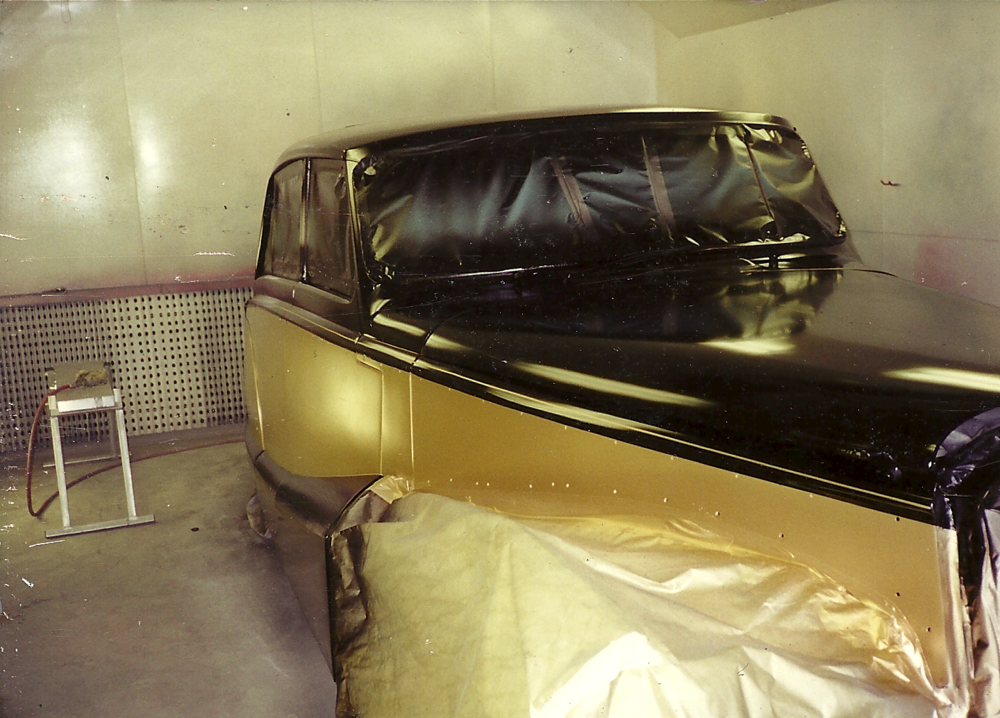 Daimler Limousine  in our paint booth