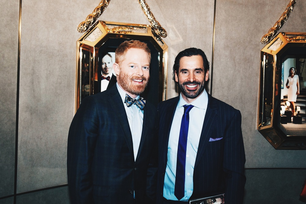 Jesse Tyler Ferguson with Publisher of Angeleno, Chris Gialanella