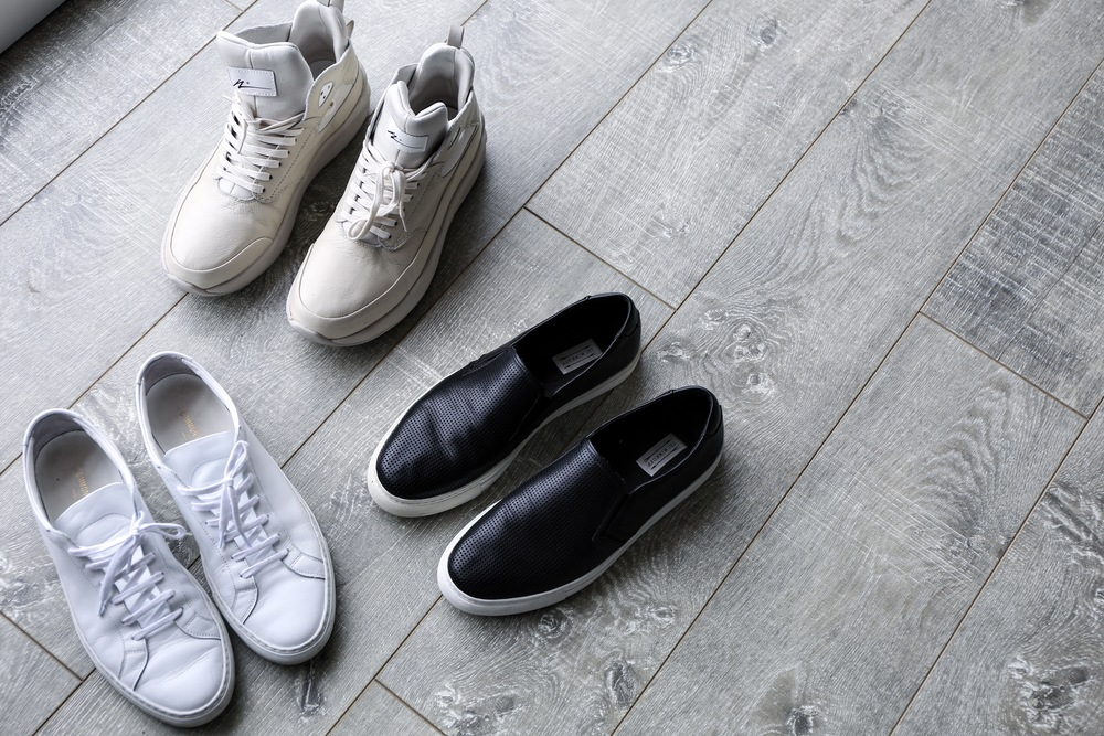 White: Common Projects Black: Uri Minkoff Off-White: Article Number