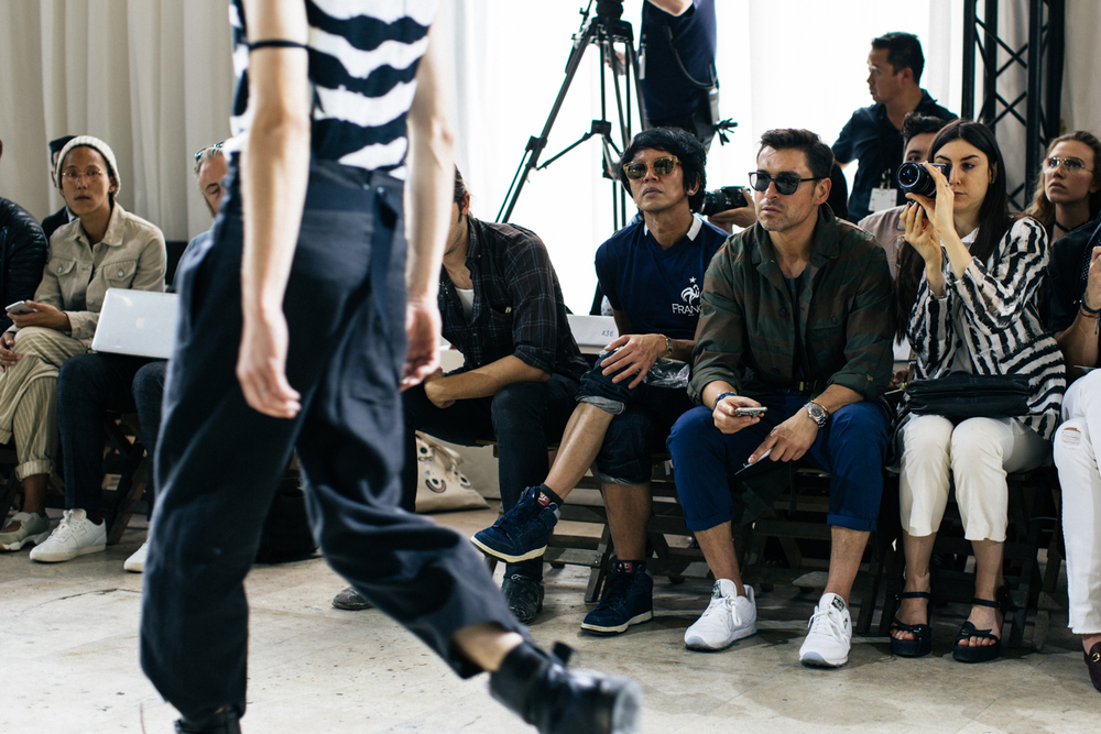 It is normal to see Alex sitting front row on every fashion show.