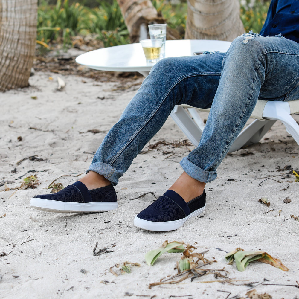 Beach hangs with slip on sneakers by Dr. Scholl's