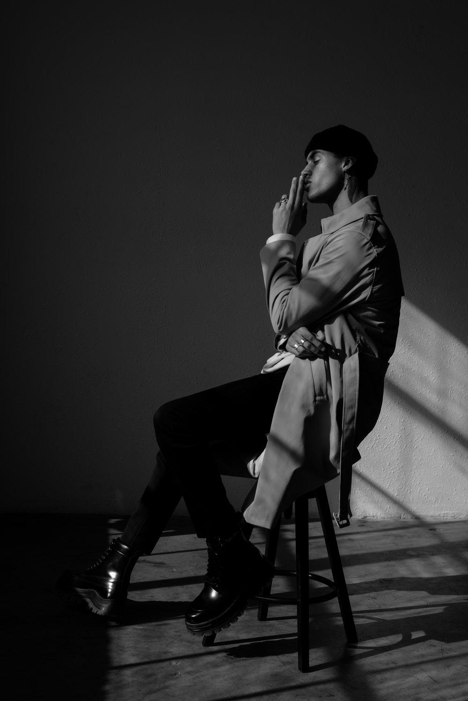 H&M coat, Dries Van Noten sweater, COS pants