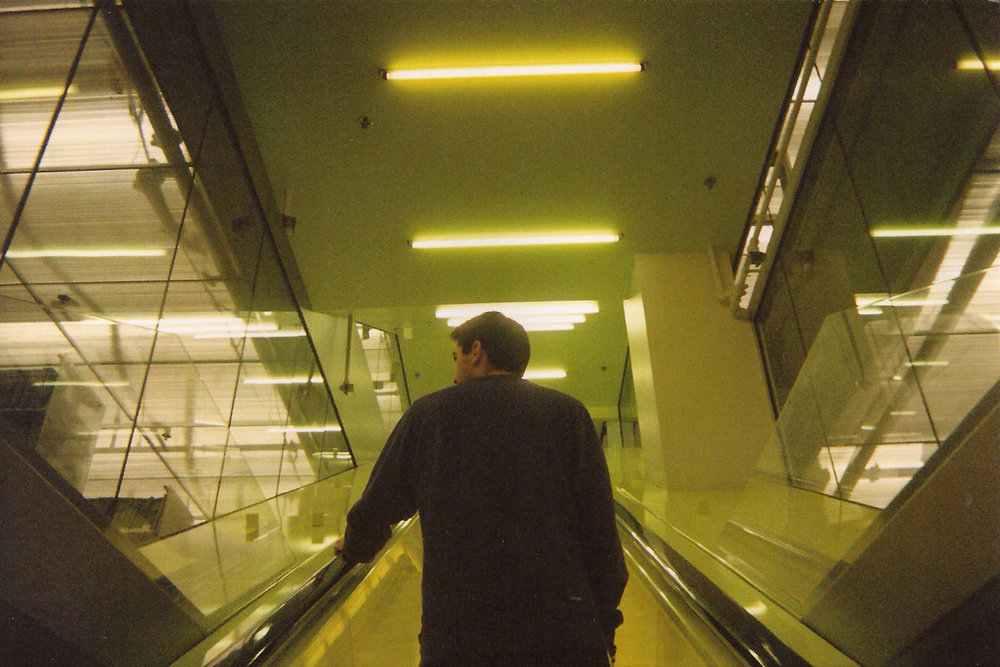 Taking the escalator up to the 10th floor in Seattle Public Library