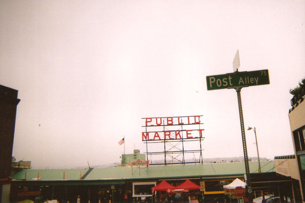 Front view of Pike market