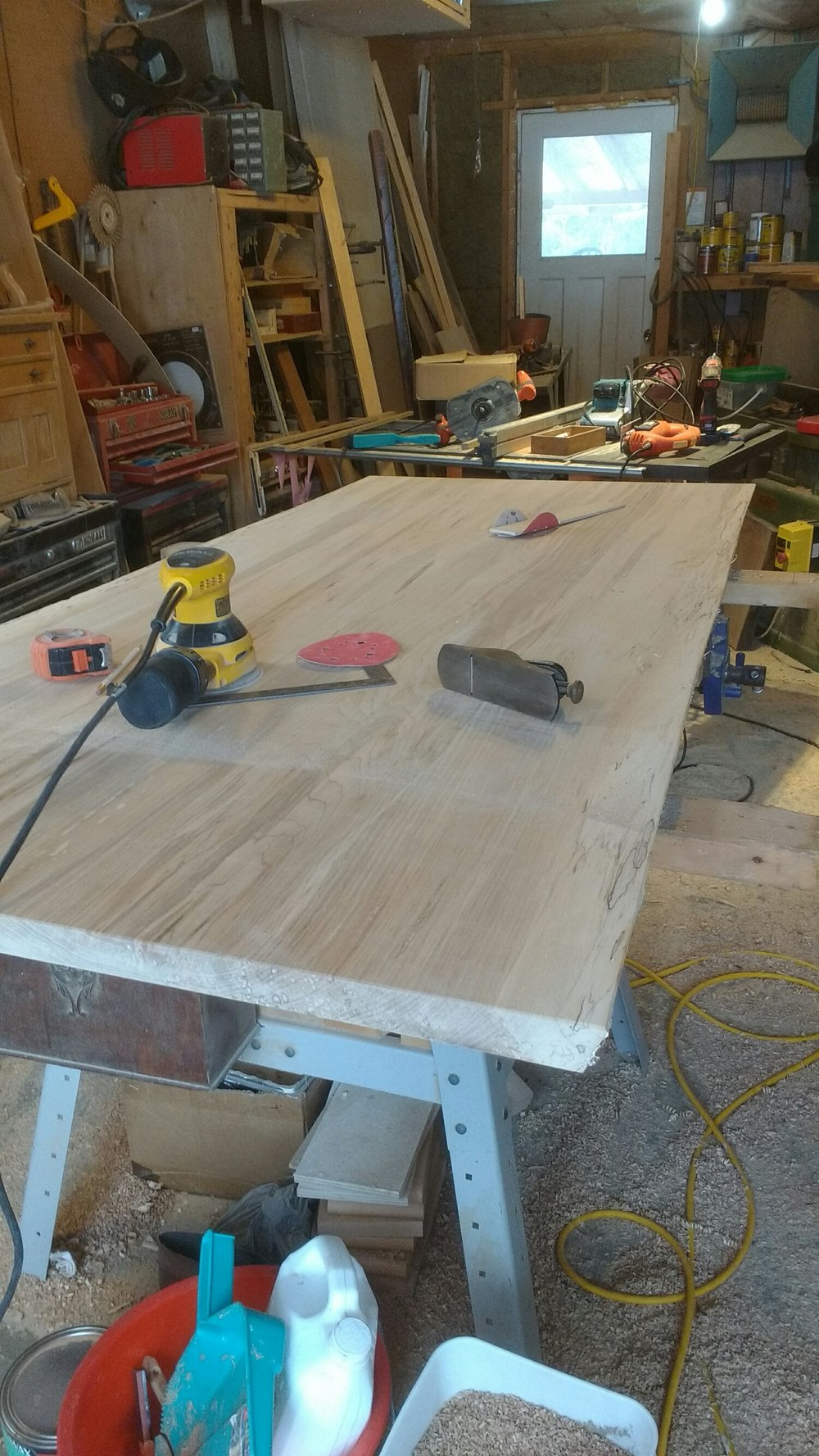 custom live edge  dining table for Brockville client